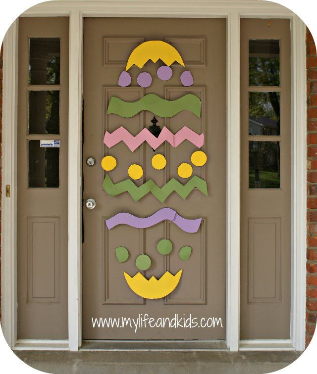 Easter Door | Poster boards, Masking tape and Easter