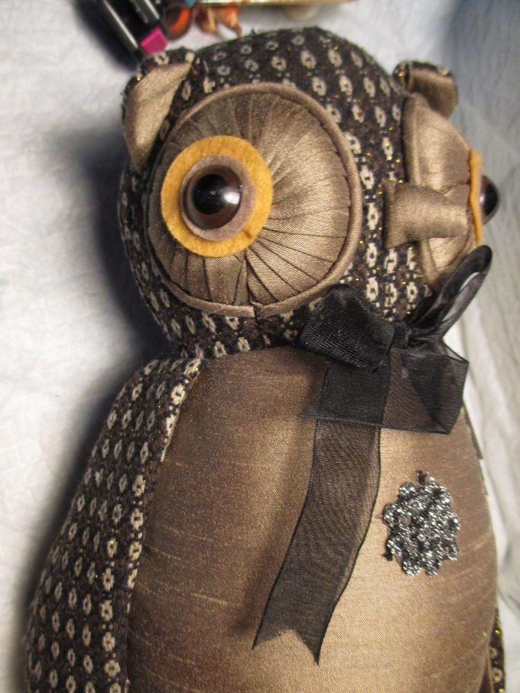 Vintage OWL Plush STUFFED Animal Bird DOMAIN CLASSIC HARVEST COLLECTION barnyard