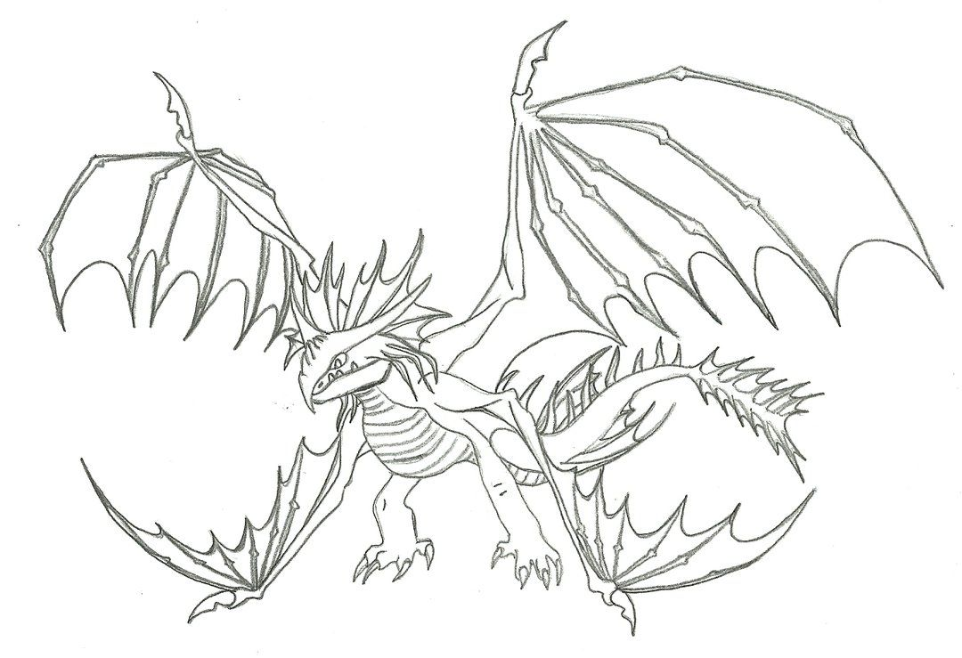 Skrill How To Train Your Dragon 2 Coloring Pages