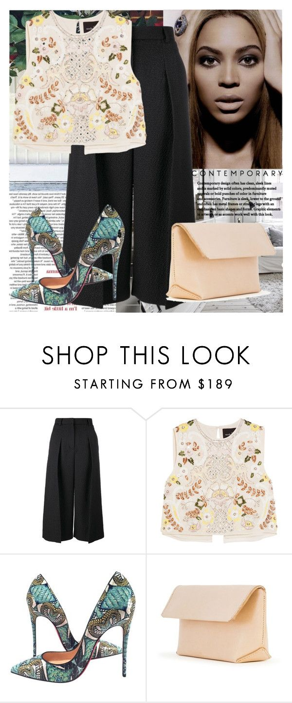 """""""Contemporary"""" by raincheck ❤ liked on Polyvore featuring Erdem, Needle & Thread, Christian Louboutin, Iala Díez and contemporary"""