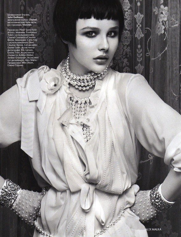Chloe Moretz as a Flapper by Alix Malka for Vogue Russia