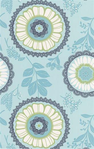 Amy Butler Lacework Ocean Wallpaper