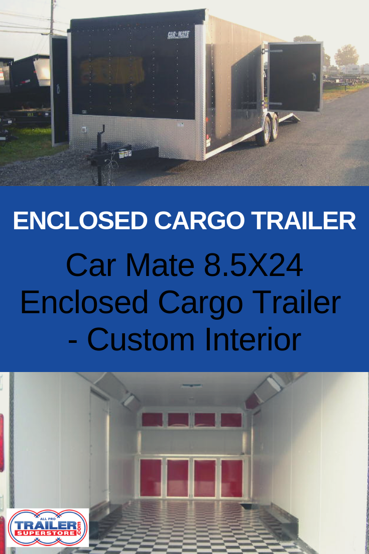 Carmate 8 5 X 24 Enclosed Car Trailer Trailer Superstore Enclosed Cargo Trailers Aluminum Roof Car Trailer