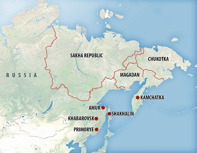 Kamchatka, Russia russian 134kb in english and russian 99kb - fresh world map in russian