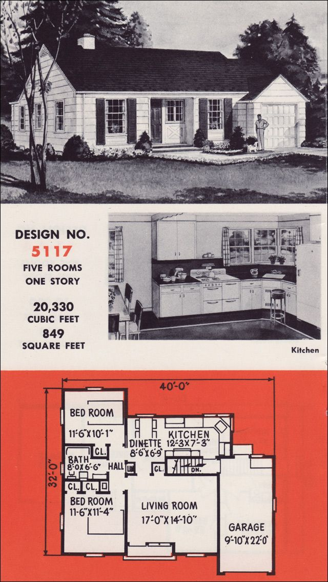 1951 Weyerhaeuser 4-Square Plans - No. 5117