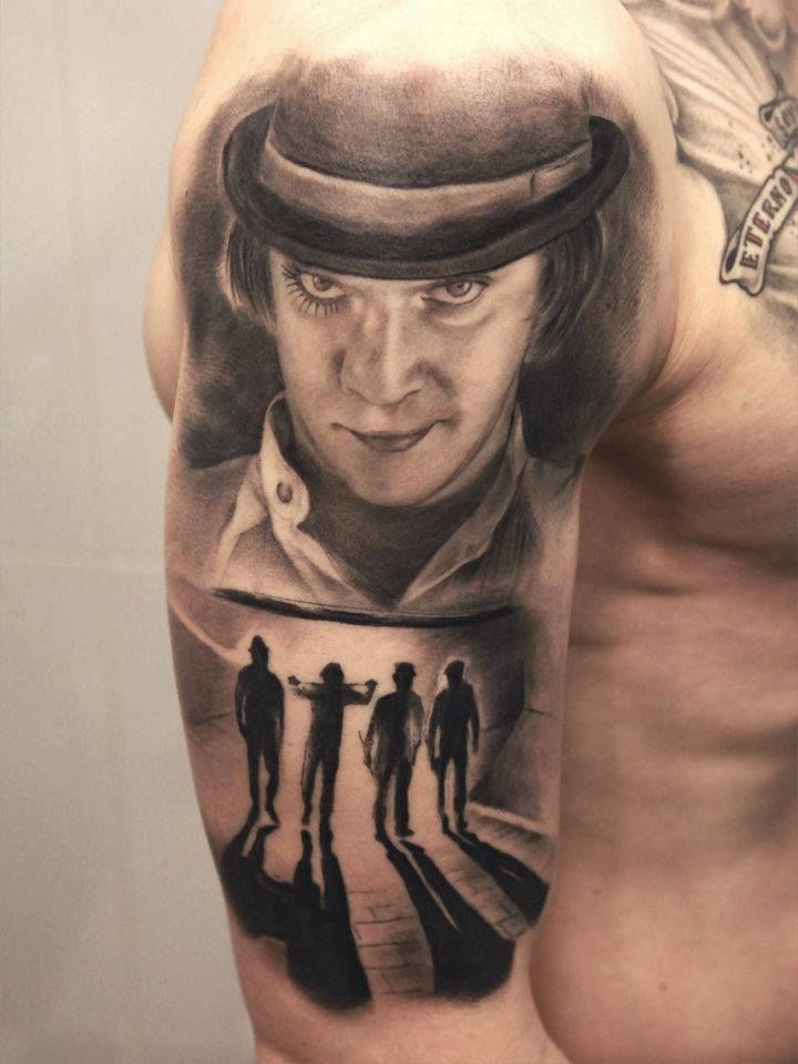this is a damn cool tattoo #clockwork orange #Alex Delarge ...