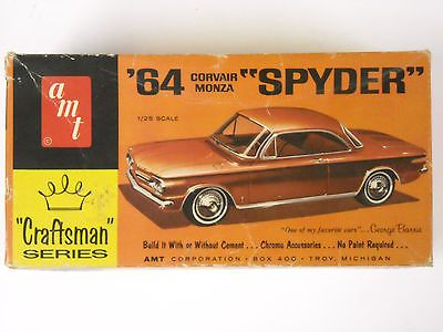 Vintage Amt 4754 Craftsman 64 Corvair Monza Spyder 1 25 Scale Model Kit 1960s Model Cars Kits Model Kit Plastic Model Cars