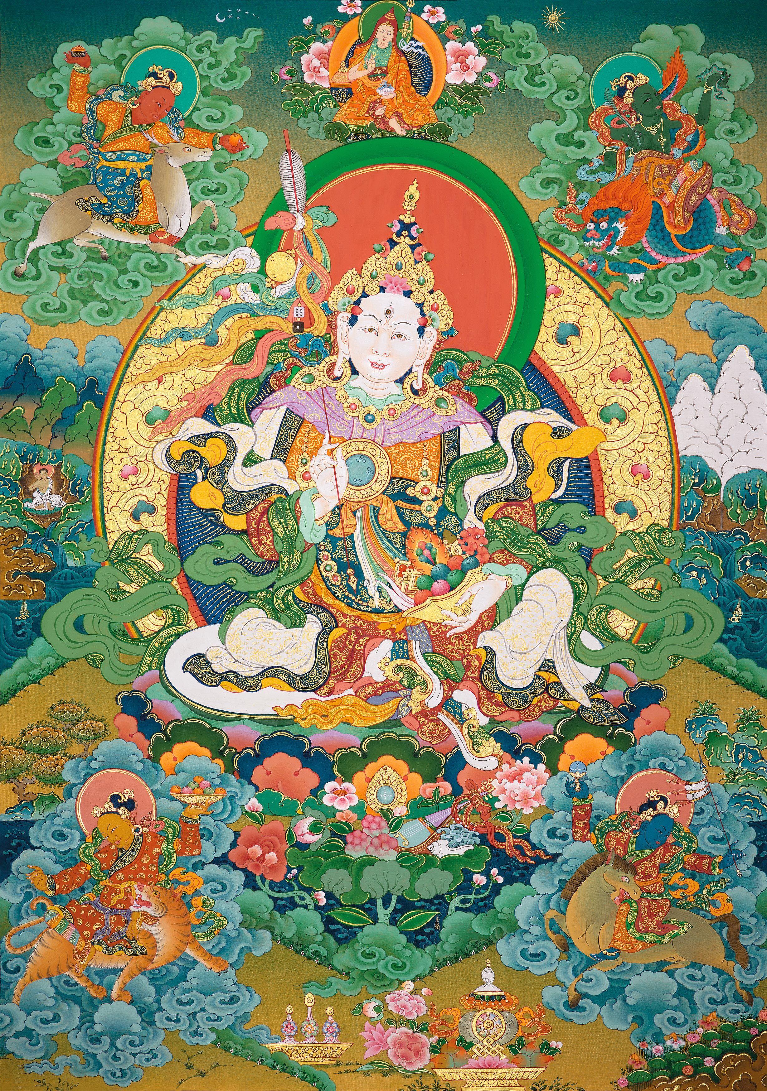 5_сестёр_Церингма_zoom | Искусство Танка | Искусство, Буддийское искусство,  Религиозное искусство