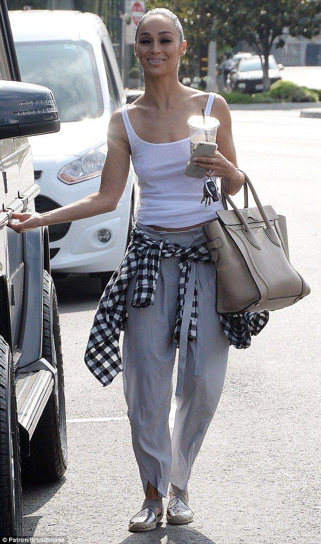 97c0a7f2964ab Cara Santana goes bra-free with white tank top as she runs errands.   dailymail
