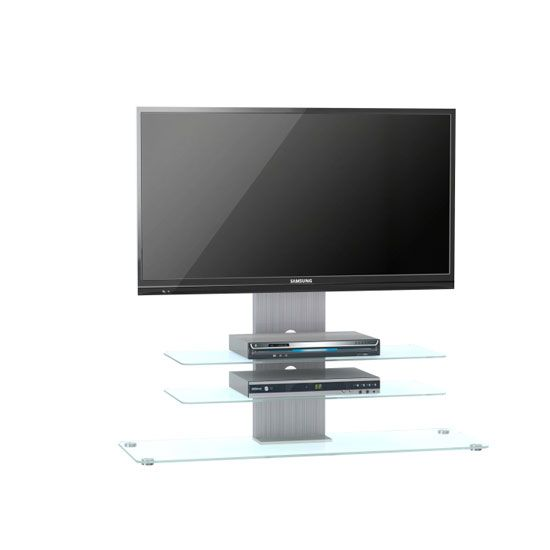 Tribeca Lcd Tv Stand In Clear Glass With Aluminium Frame And Led Lcd Tv Stand Tv Stand Tv Stand Decor