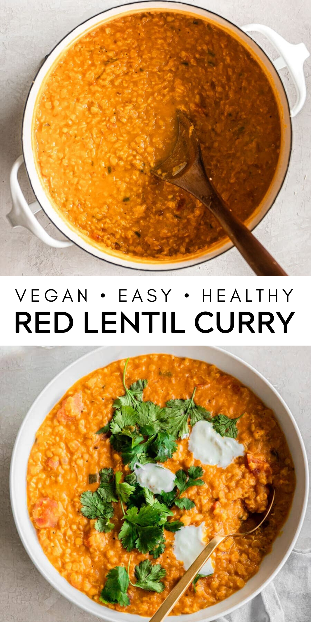 Red Lentil Curry Vegan Easy Delicious Real Vibrant Recipe Lentil Curry Lentil Curry Recipes Hearty Meals