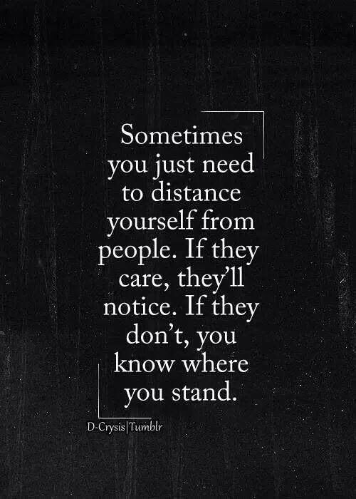 Distance from yourself