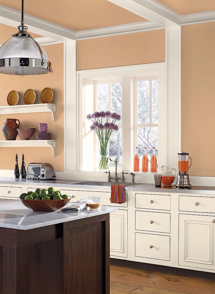 Benjamin Moore Orange Creamsicle For The Home Kitchen Colors Wall Paint