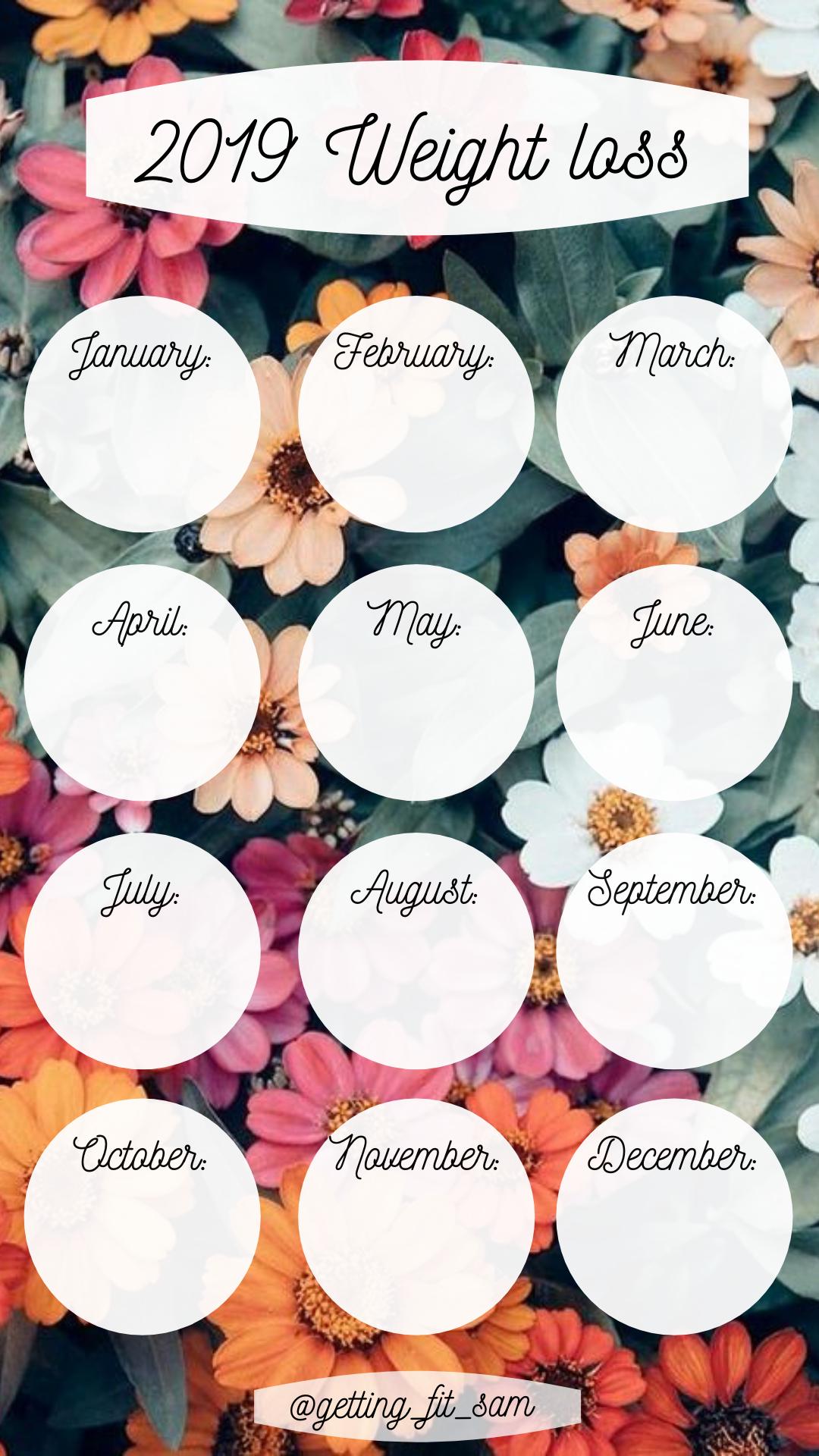 calendar pierdere în greutate instagram