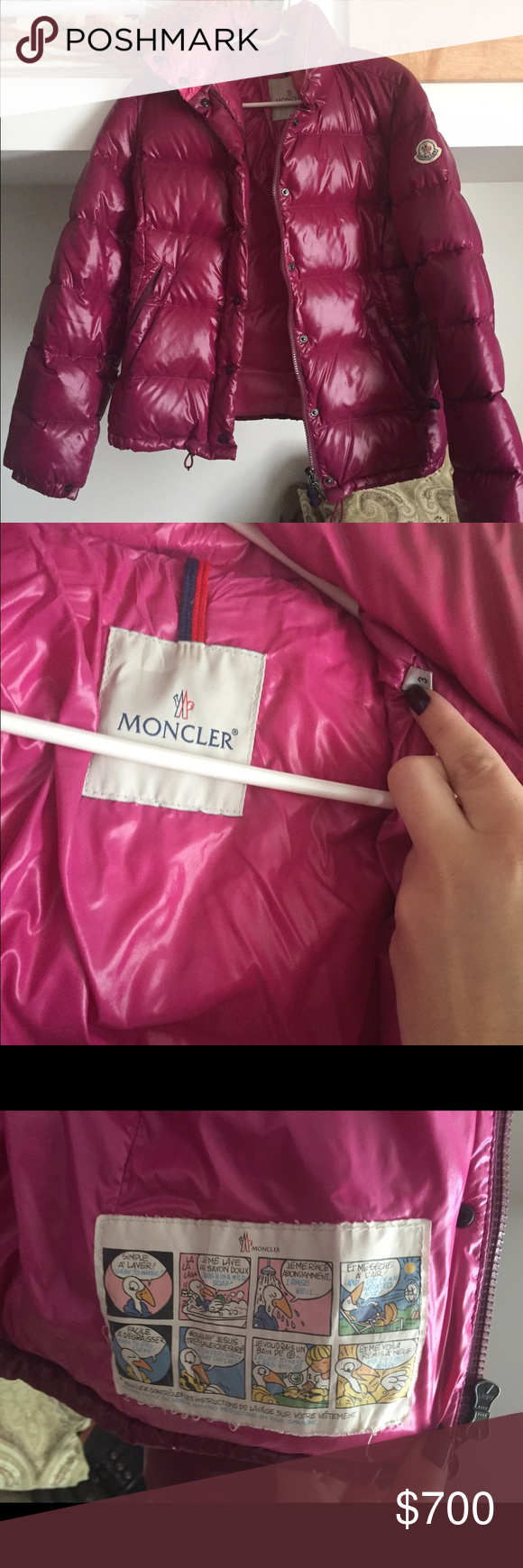 Authentic moncler winter jacket! Size 3, used moncler jacket but in great shape. The color is beautiful and very warm! Will sell lower on other website Moncler Jackets & Coats Puffers