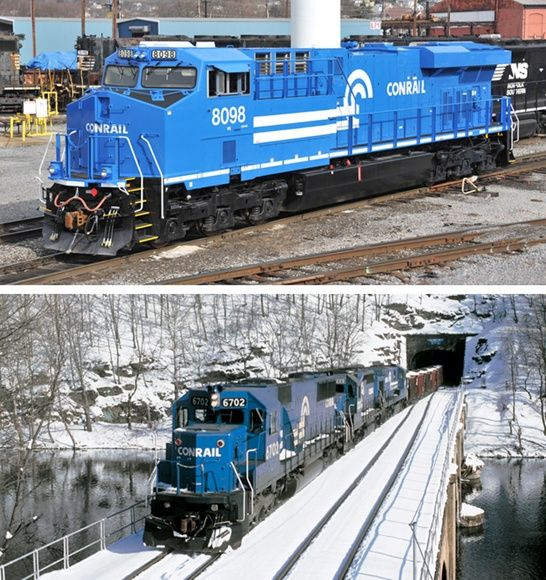 Norfolk Southern Heritage Engines: Then And Now, Trains