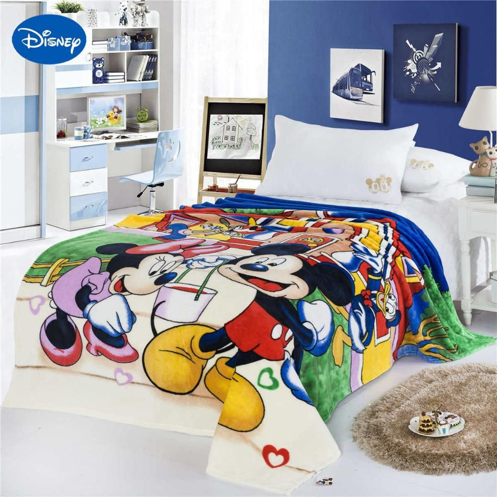 Disney Mickey Mouse Donald Duck Print Blankets 150200cm Boys Bed