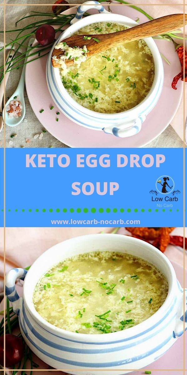 Keto Egg Drop Soup Keto transformation from Bone Broth to Low Carb Egg Drop Soup