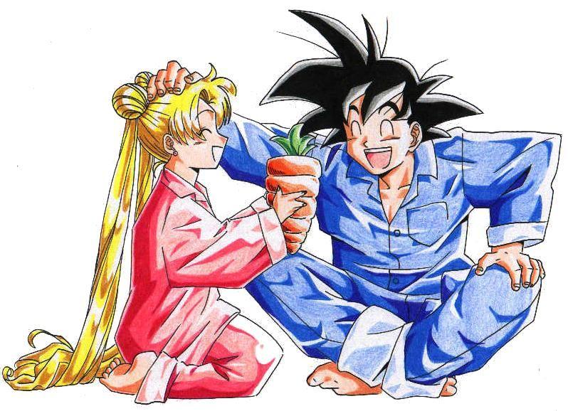 Usagi Tsukino And Goku Sailor Moon Dragon Ball Z Fanart Author