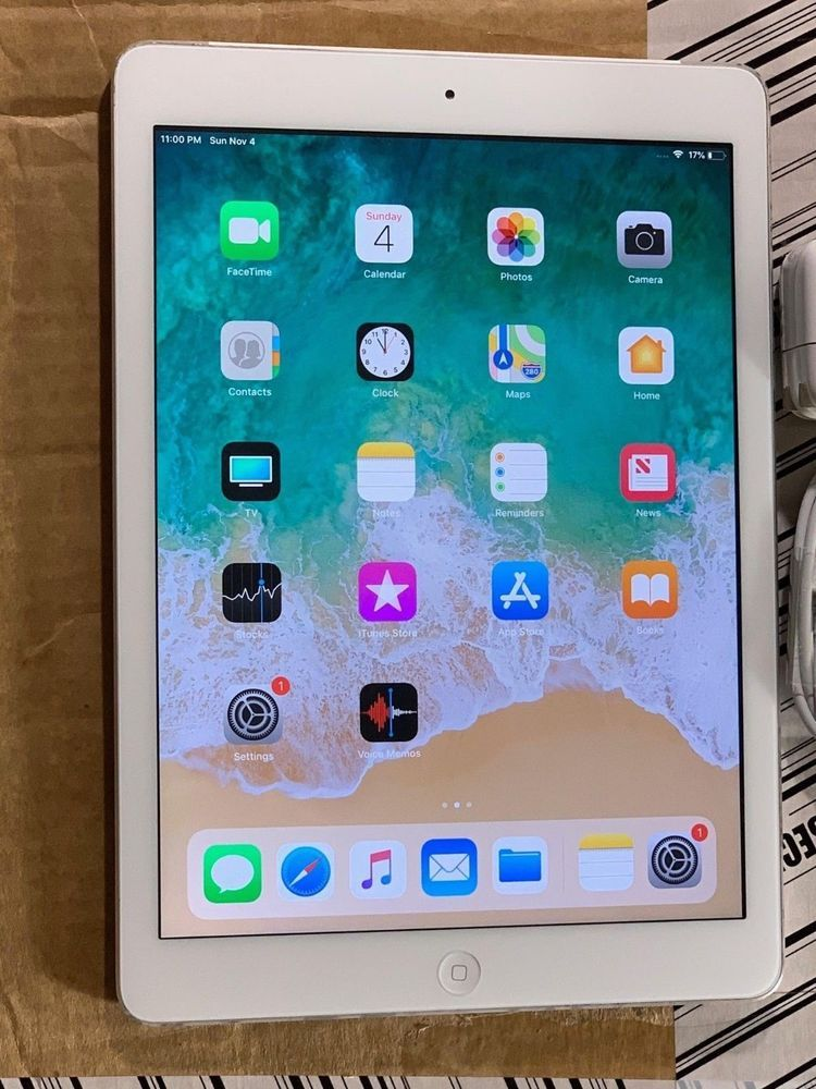 Apple Ipad Air 1st Gen 128gb Wi Fi Cellular Unlocked 9 7in Silver 102 13 End Date Monday Nov 12 2018 6 05 15 Pst Buy It Ipad Tablet Pencil For Ipad
