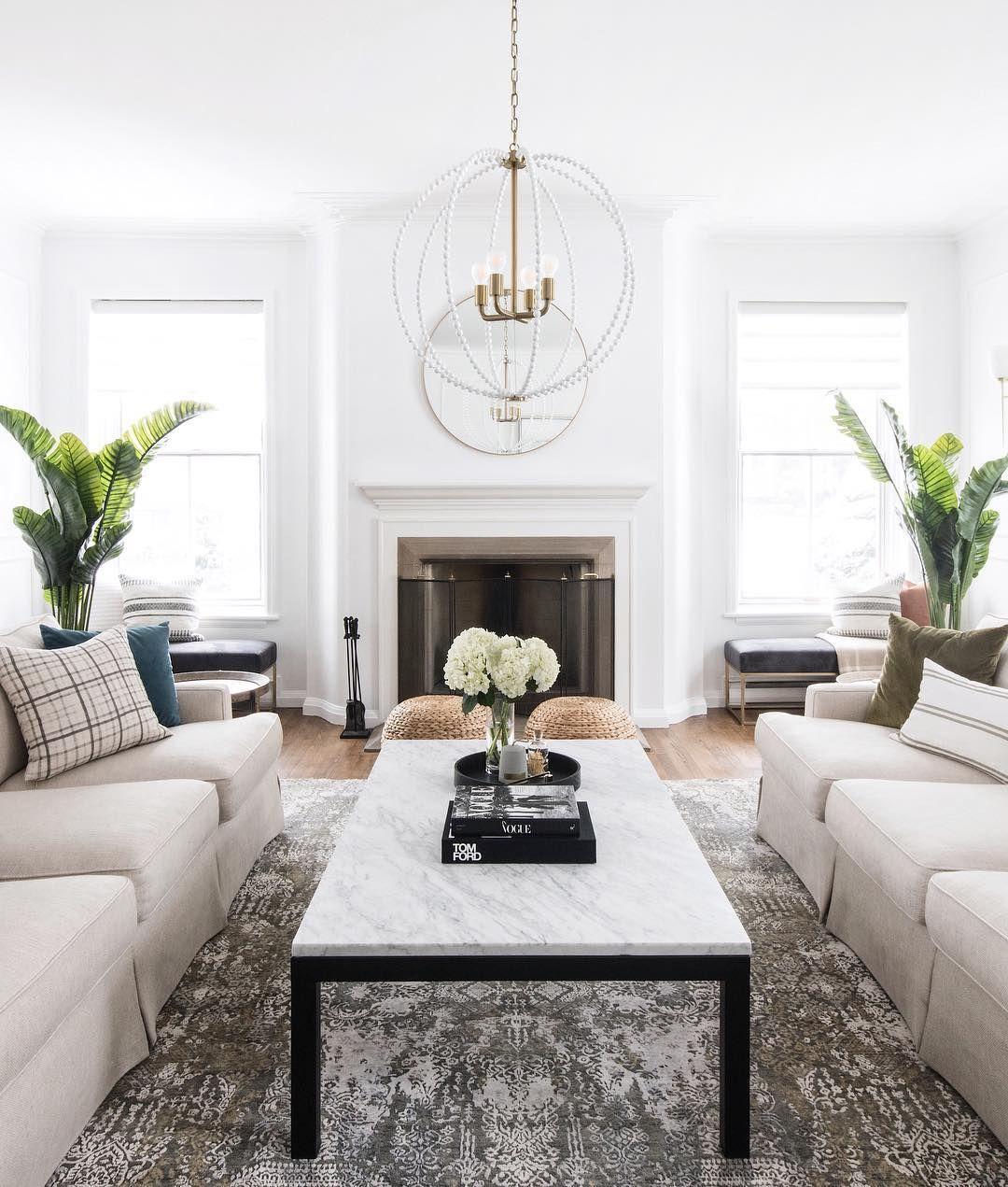 """Budget Living Room Design Inspiration: Living Room... Photo Via Leclair Decor On Instagram: """"We"""
