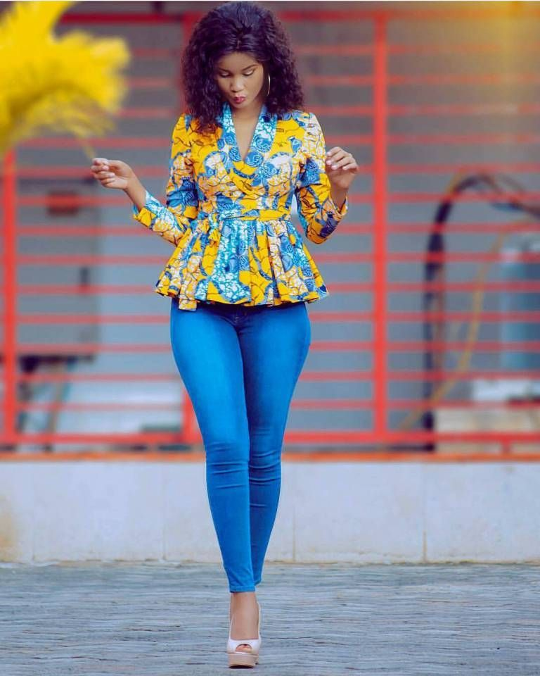 c76eff943f african print top with jeans