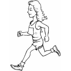 Runner Girl Coloring Pages For Girls Coloring Pages Runner Girl