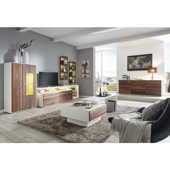 Edle Wohnwand Von DIETER KNOLL: Nussbaumholz Für Das Besondere Flair  Sitting Rooms, Homes