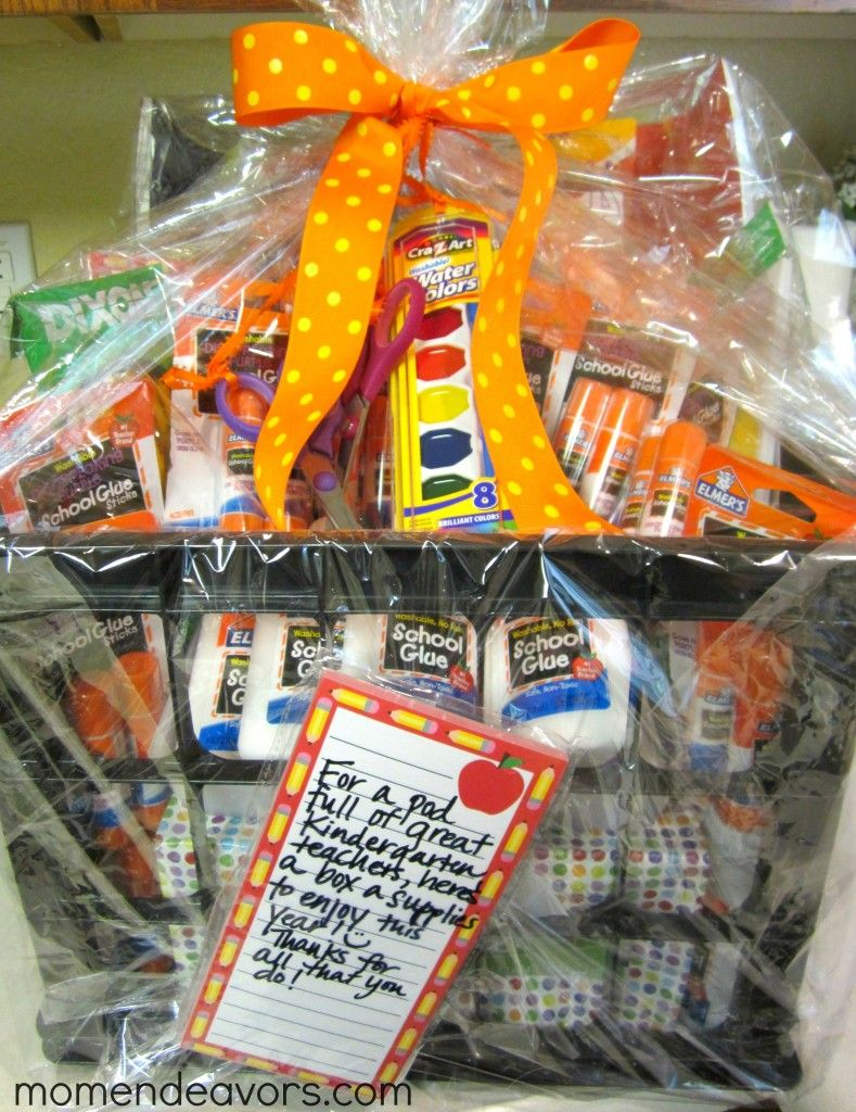 Classroom Equipment Ideas ~ School supply gift basket so cute for ur kids teachers