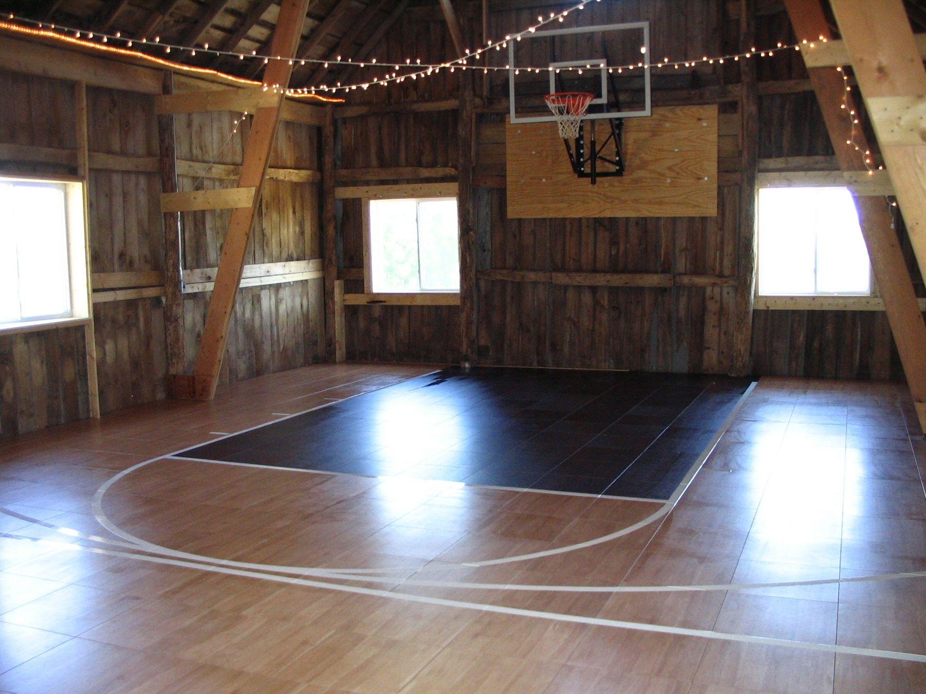 Indoor court pinterest home basketball
