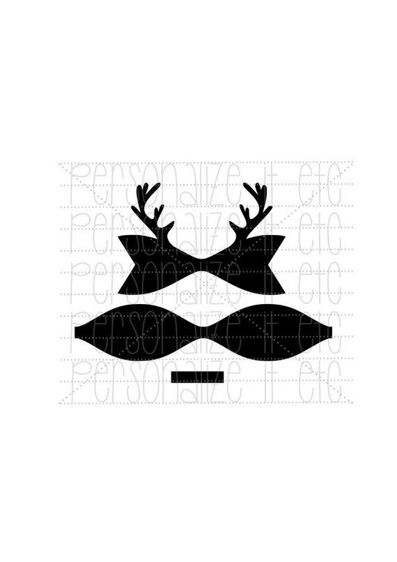 Christmas Hair Bow Template.Pin On Christmas New Year S Svg Dxf Jpg Pdf Printables