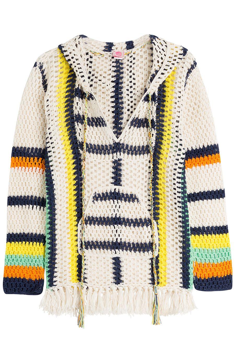 ANNA KOSTUROVA Baja Crochet Hoodie. #annakosturova #cloth #tunics ...