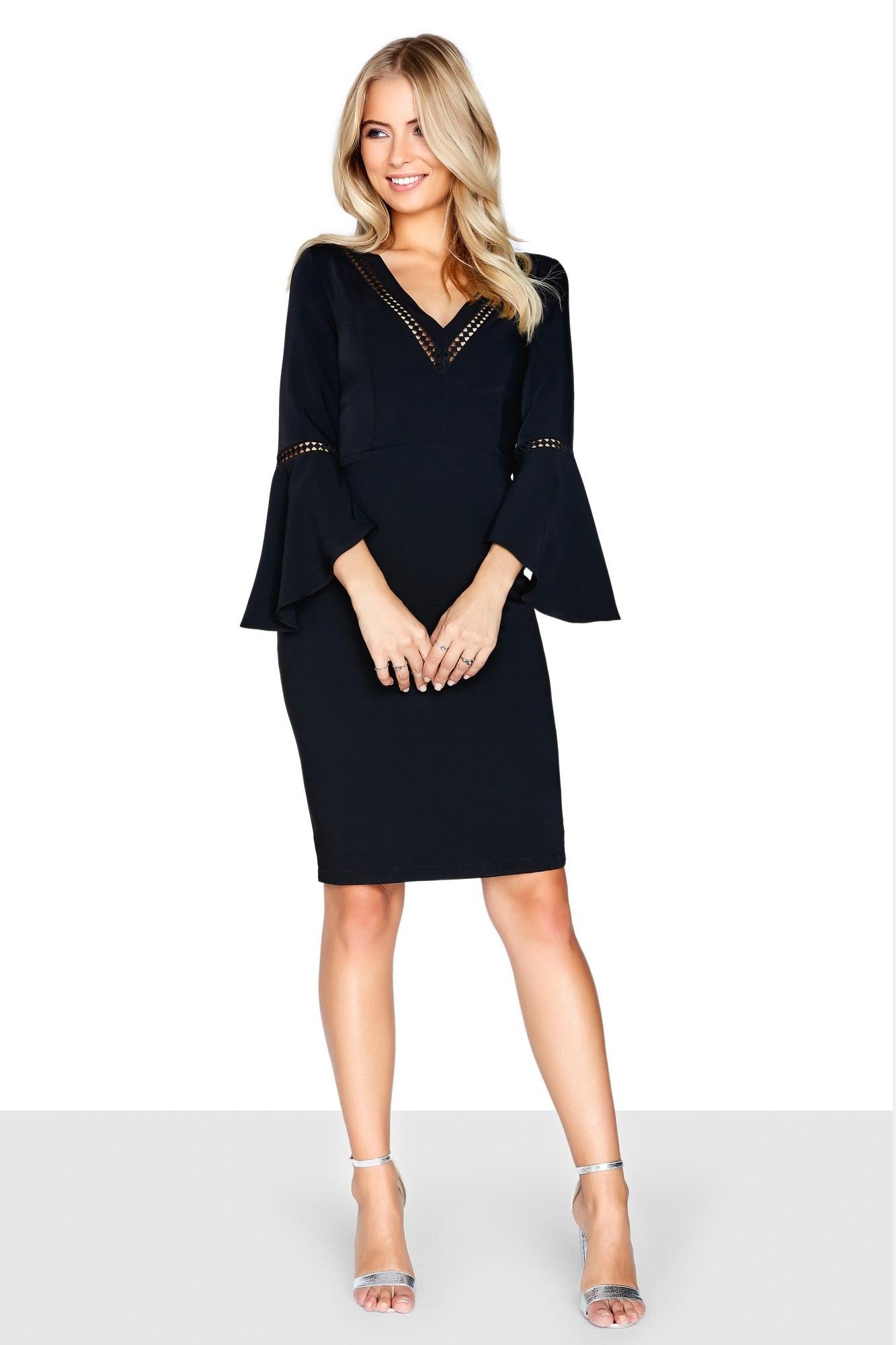 Paper Dolls Women S Fluted Long Sleeve Black Dress Available Now At Market Co Uk Order Online Get Free And Fast Black Long Sleeve Dress Black Dress Dresses [ 2000 x 1333 Pixel ]