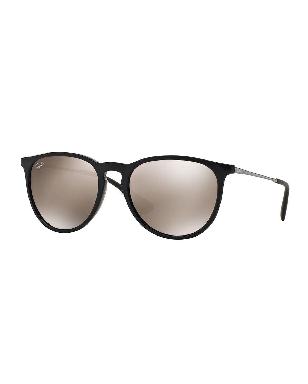 406768aabd Erika Mirrored-Lens Metal-Temple Sunglasses