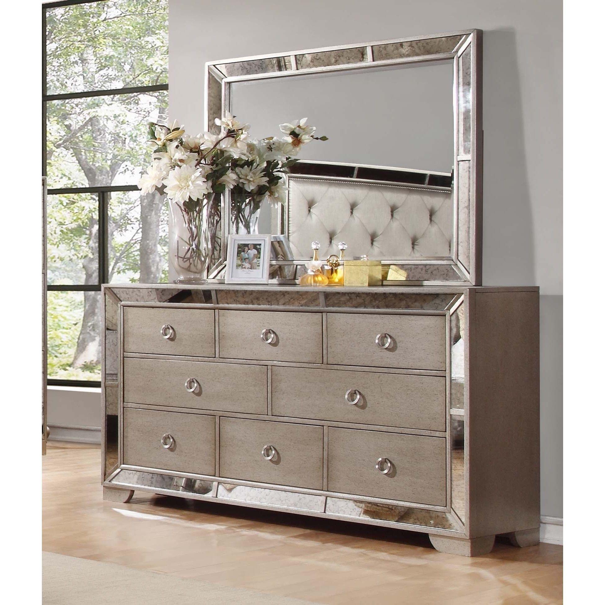 Best Master Furniture Silver Bronze Dresser And Mirror 400 x 300