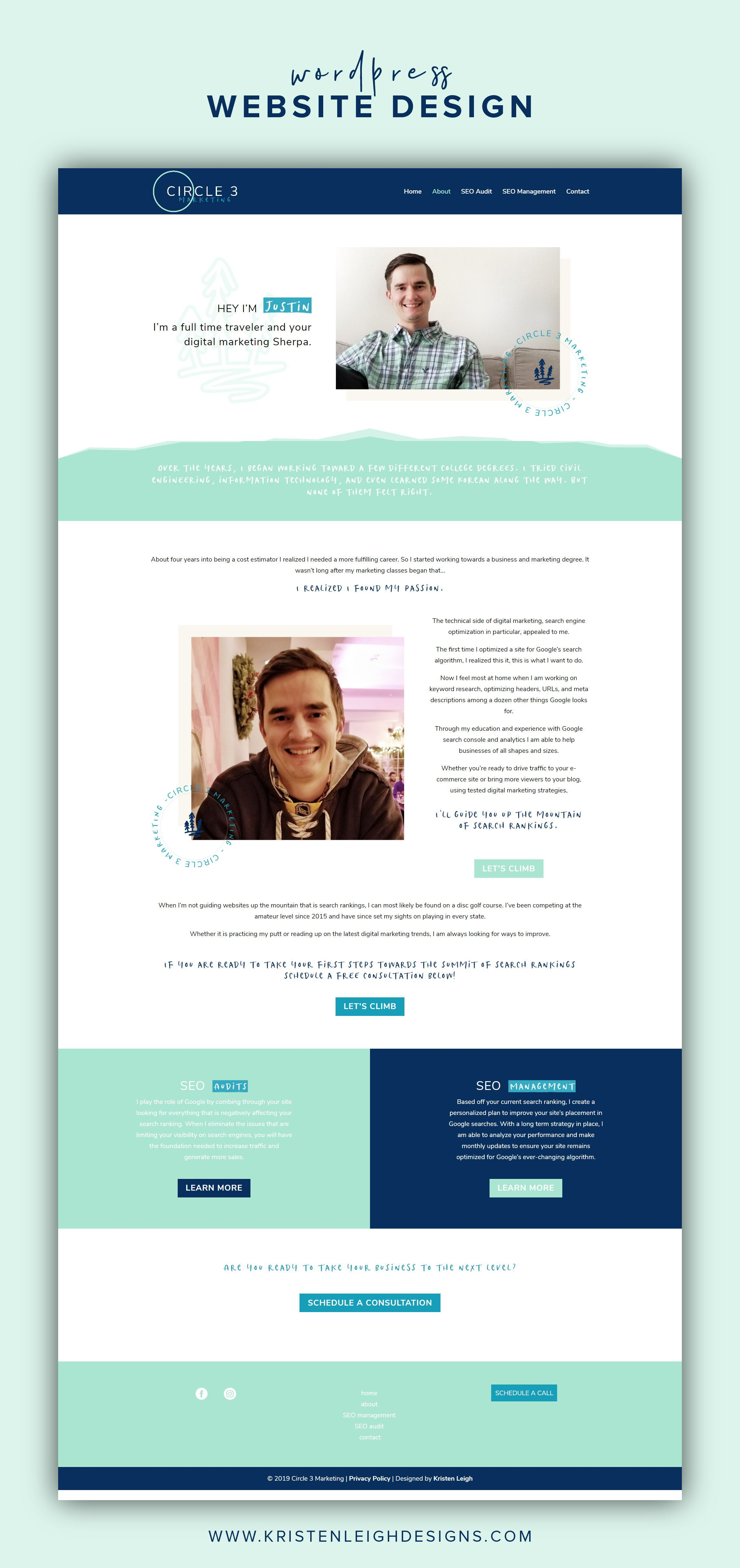 Client Spotlight Circle 3 Marketing Seo Expert Website Design Web Design Mockup Website Design Website Design Wordpress
