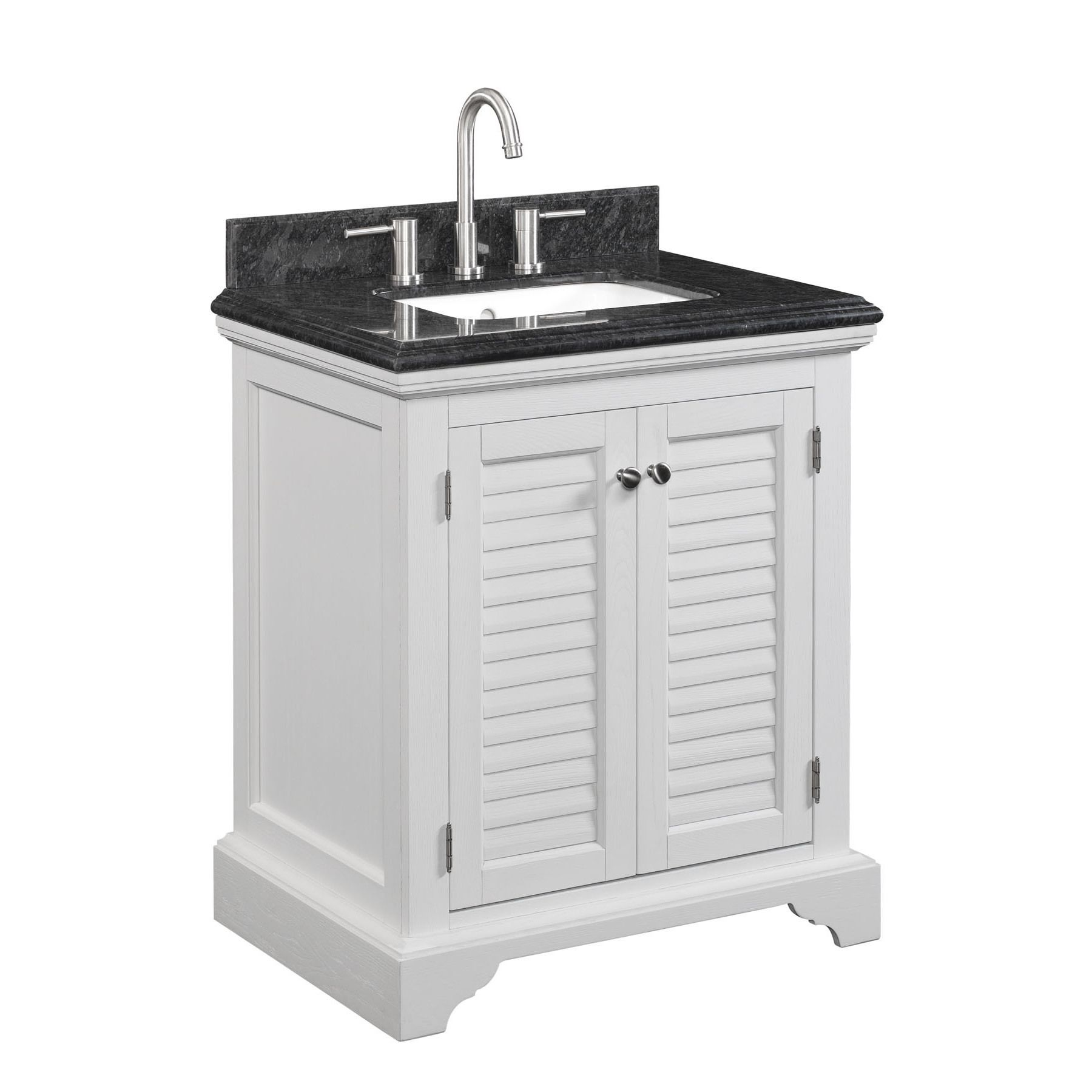 Key West 30 Inch Freestanding Undermount Single Integrated Sink