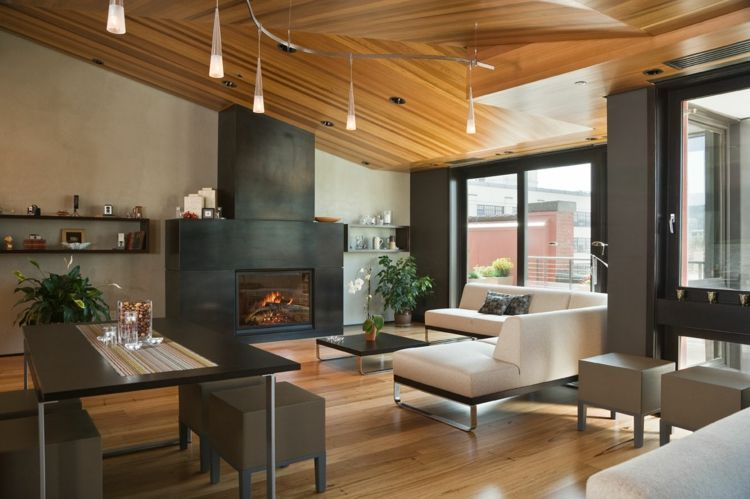 Lieblich Wohnzimmer Mit Kamin Gestalten   43 Ideen Für Wärme Und Gemütlichkeit