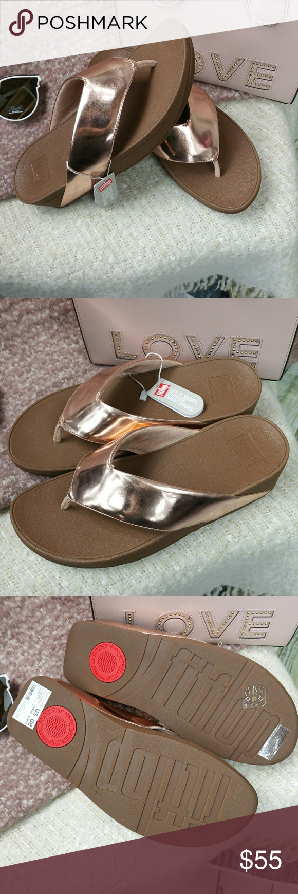 b0dc05c2d8d9a9 NWT Fit Flops ROSE GOLD sandals FITFLOP Swoop 8 Size 8 - 1 ONLY FitFlop ROSE