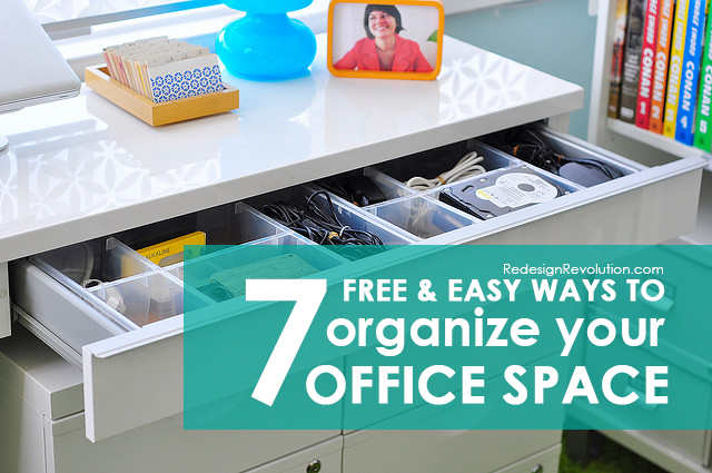 Free and easy ways to organize your office space - Organize your office desk ...