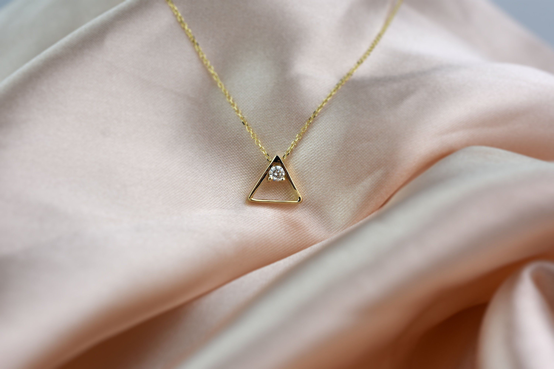 Pin On Geometric Diamond Necklaces