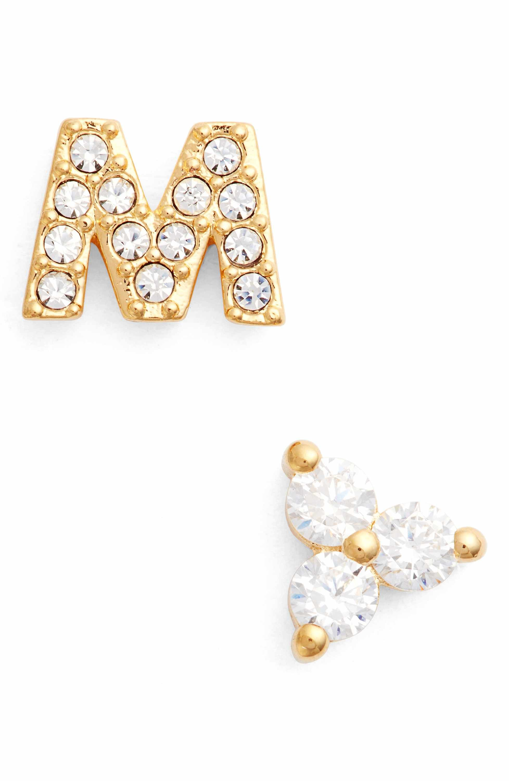 mismatched products stud jewelry khai la stella luna earrings