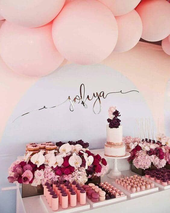 The perfect pink engagement party st birthday decorations also uplifting decoration ideas with balloons for every occasion rh pinterest