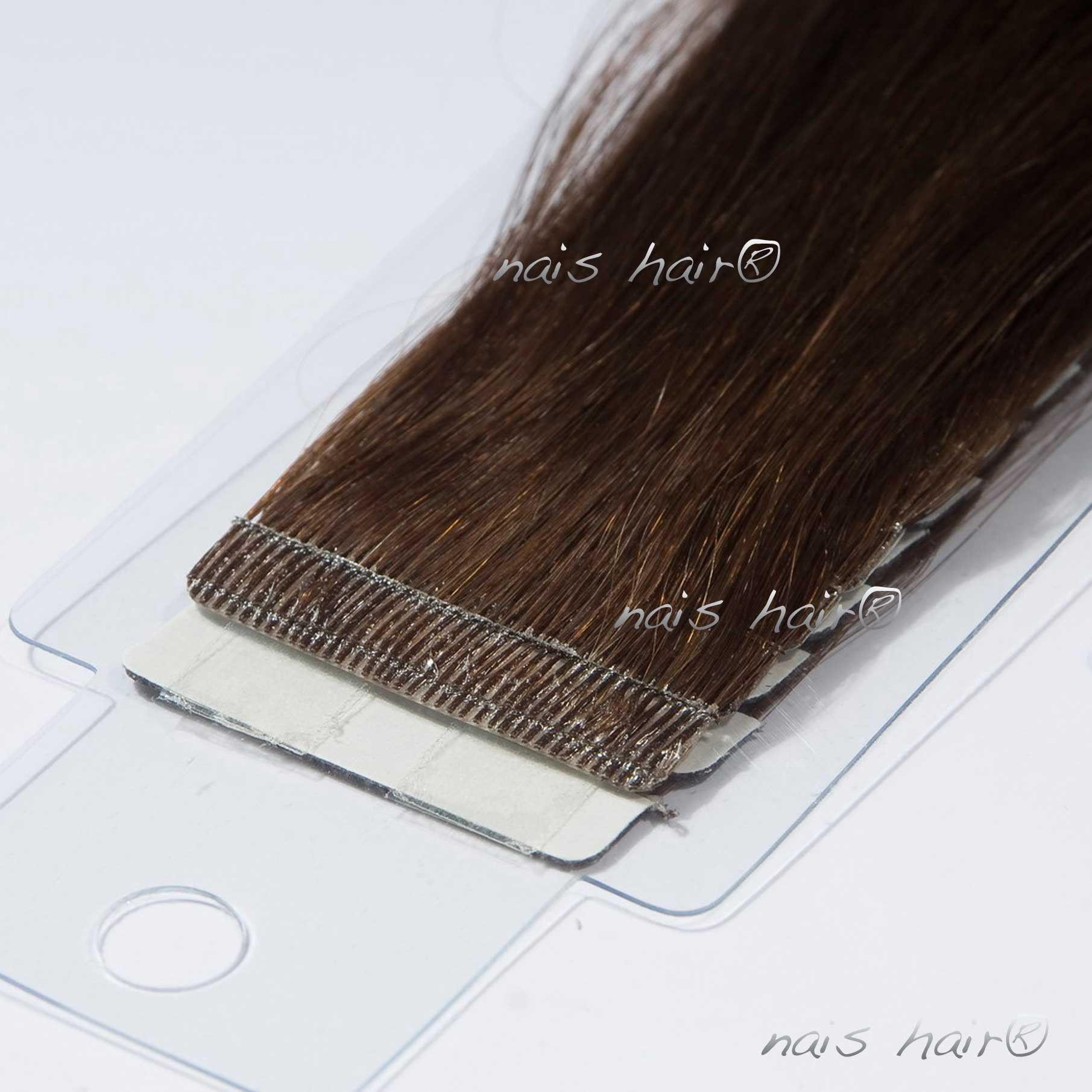 Mega Hair Fita Adesiva 4 Castanho Escuro 50cm Tape Hair