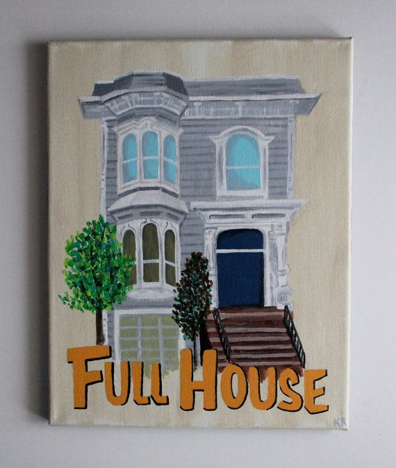 Full House Fuller House Tv Show Art Tv Art Netflix San Etsy Painting Canvas Painting Diy Canvas Art