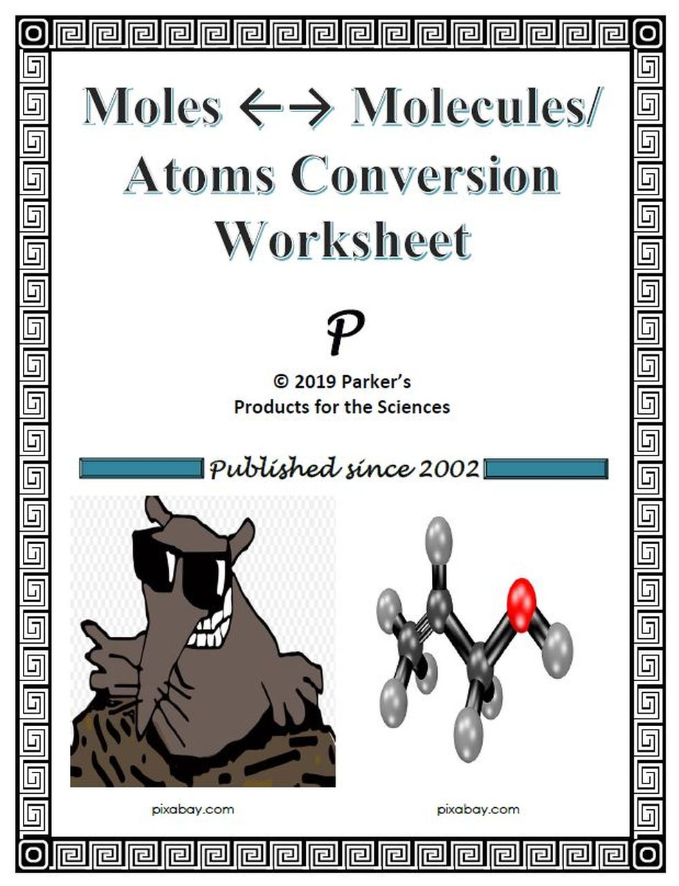 Moles to Molecules Conversion Worksheet Chemistry