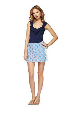 Anchors Away Maritime Skort - Lilly Pulitzer