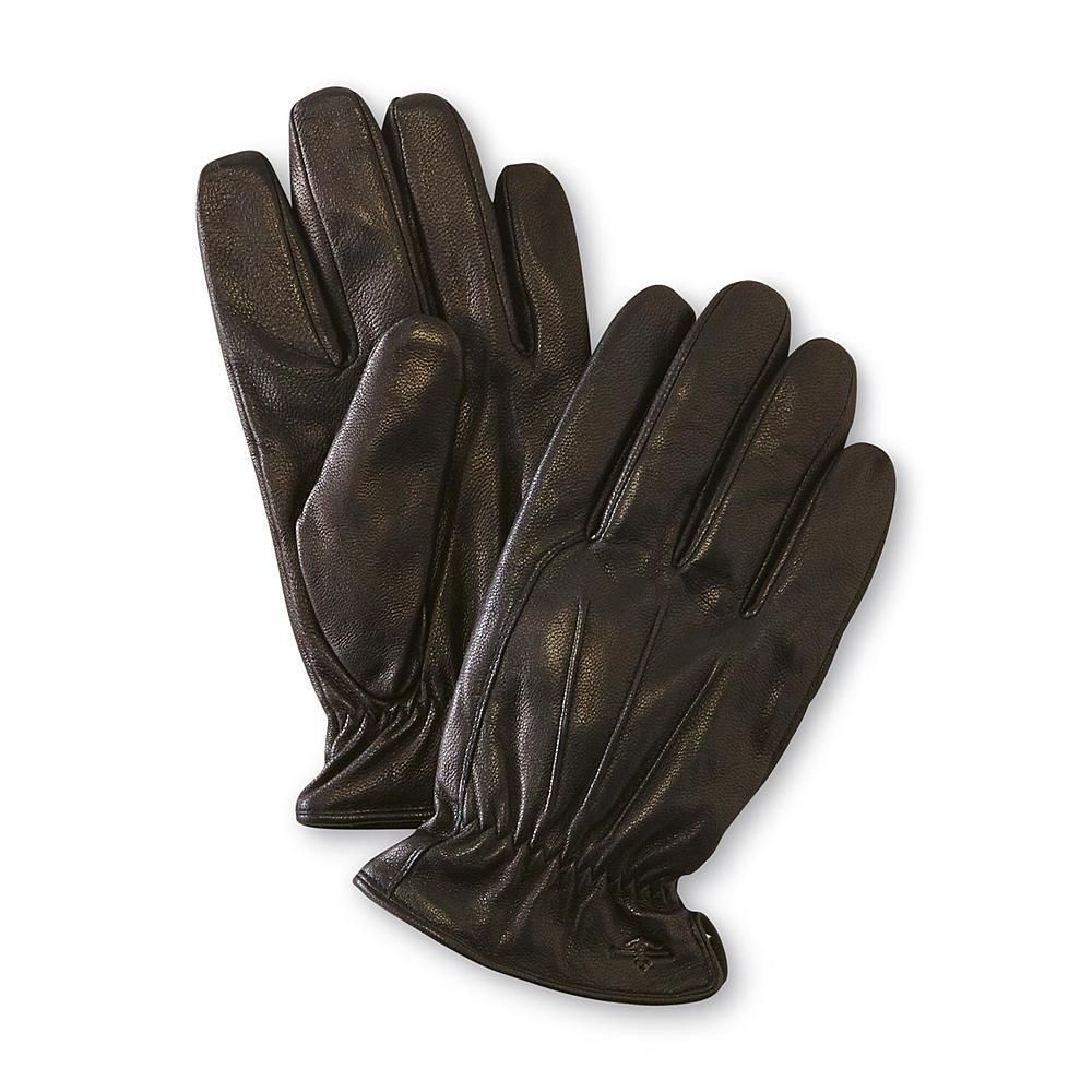 Mens black leather gloves xl - Dockers Mens Gloves Genuine Leather Sherpa Lined Black Solid Size M L Xl New In Clothing Shoes Accessories Men S Accessories Gloves Mittens