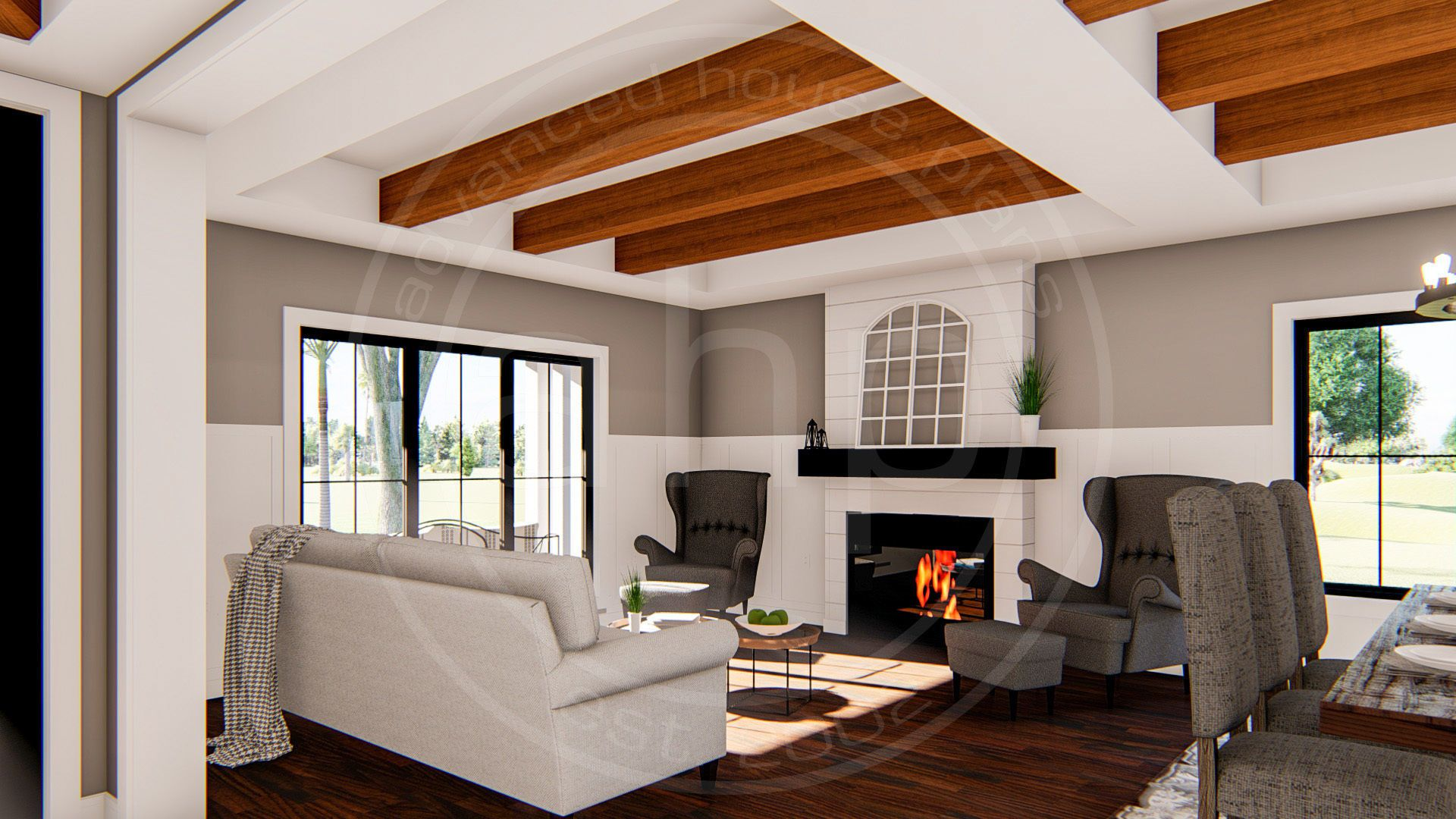 2 Story Modern Farmhouse Plan | Pasadena Flats | House ...