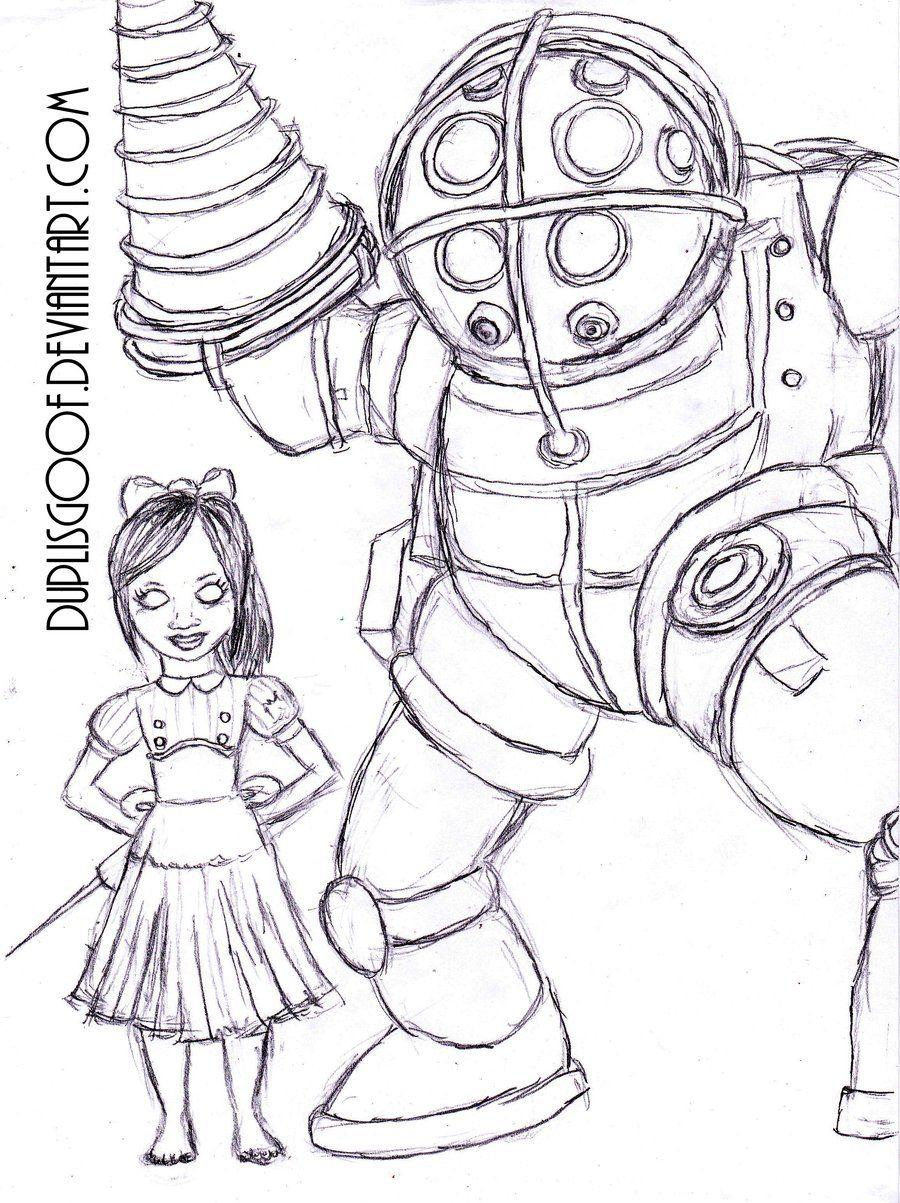 Bioshock Big Sister Drawing Google Search Sisters